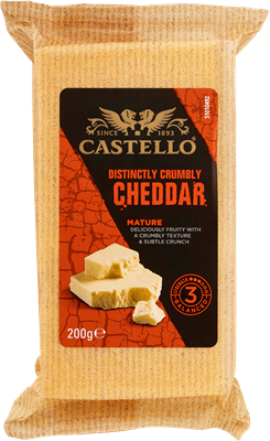 Castello® Crumbly Cheddar Mature 48+ 200 g