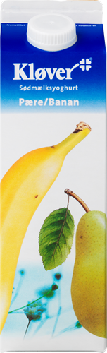 Kløver® Sødmælksyoghurt Pære/Banan 3,1% 1000 g