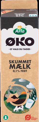 Arla® ØKO Skummetmælk 0,1% 1 l