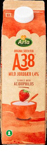 Arla A38® Mild Jordbær 1,4% 1000 g
