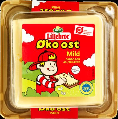 Arla Lillebror® Øko ost Mild Danbo 45+ 200 g