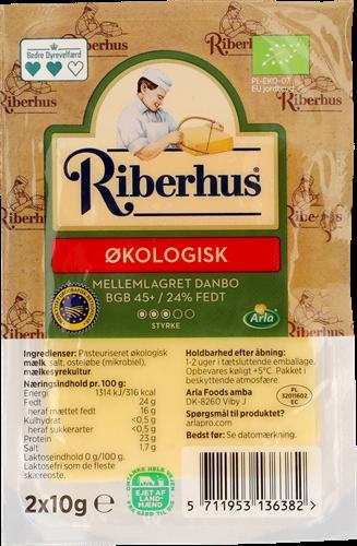Riberhus® Økologisk Mellemlagret Danbo 45+ 20 g