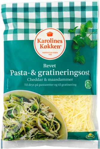 Karolines Køkken® Pasta og gratineringsost 50+ 175 g
