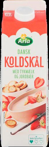 Arla® Koldskål med tykmælk & jordbær 1,8% 1 l