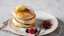 Japanska pannkakor med lönnsirapssmör