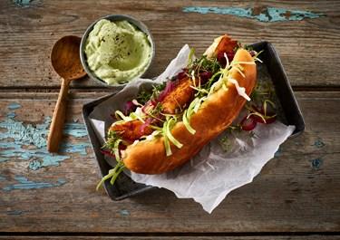 Vegetar hotdog