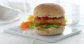 Fiskeburger med let remoulade
