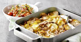 Kartoffelfad med hytteost