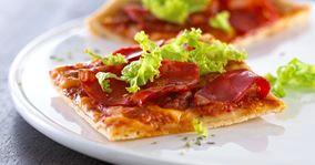 Pizzasnitter med chorizopølse