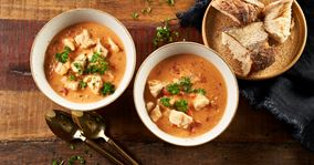 Fiskesuppe med tomater