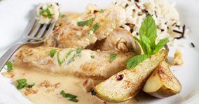 Kylling i flødesauce