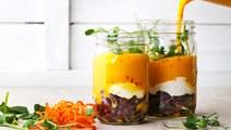 Gulerodssuppe med ingefær og bønner
