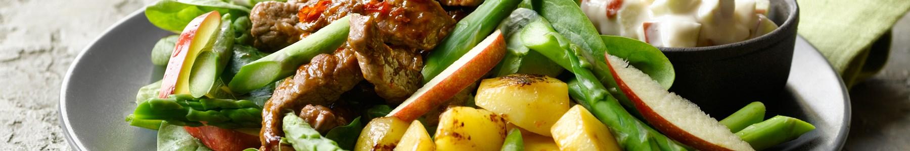 Hurtig + Salater + Okseklump