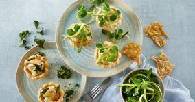 Tarteletter med asparges og kylling