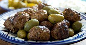 Lammekødboller med oliven