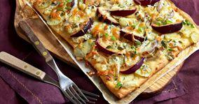 Pizzaer med kartofler og blommer