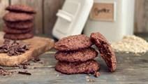 Cookies med chokolade og havregryn