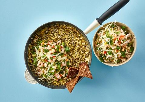 Æggekage med quinoa og hytteost