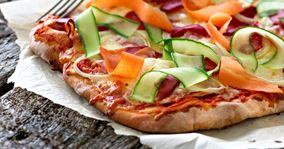 Pizza med grillet peberfrugt