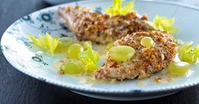 Fasaner med vindrue-flødesauce og mos