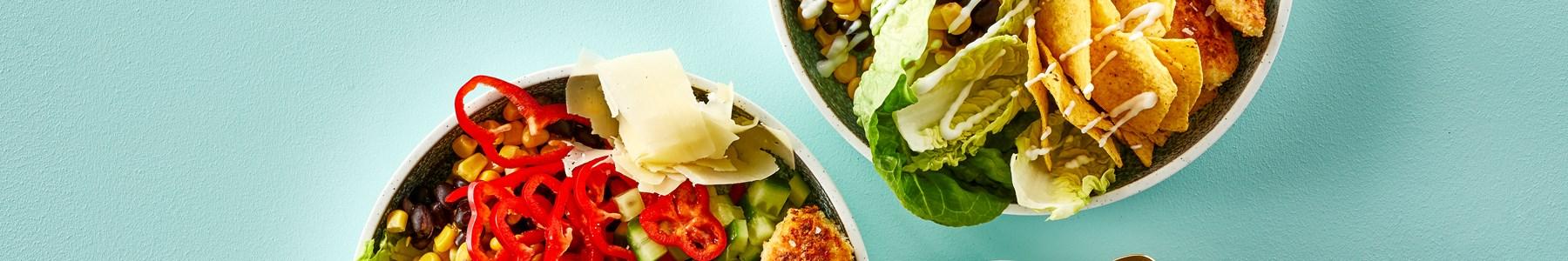 Hurtig + Sorte bønner + Salater