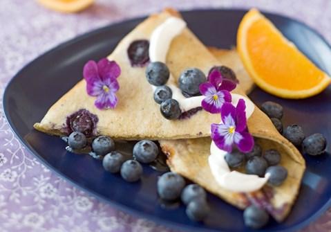 Ovnpandekage med blåbær