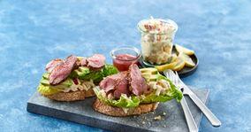 Sandwich med stegt andebryst