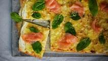 Lax- och potatispizza
