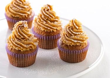 Banancupcakes med peanutbuttercreme