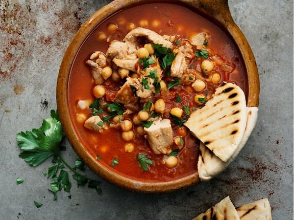 Marokkansk kyllingegryde