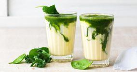 Mangosmoothie med grøn juice