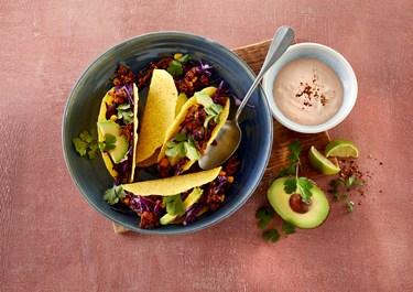 Tacoskaller med fyld