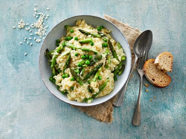 Risotto med asparges og mozzarella