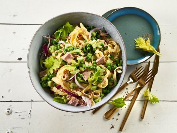 Frisk pasta med tun og citron