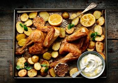 Kylling og kartofler i ovn